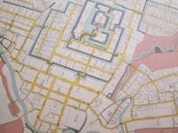 慶応年間の長岡城城下町全図